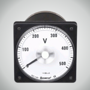 Marine Square-Round Panel Cut-out DC Voltmeter