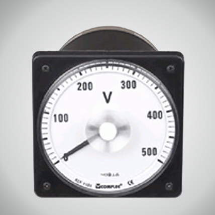 Marine Squrae AC Voltmeters with Round Panel Cut-out