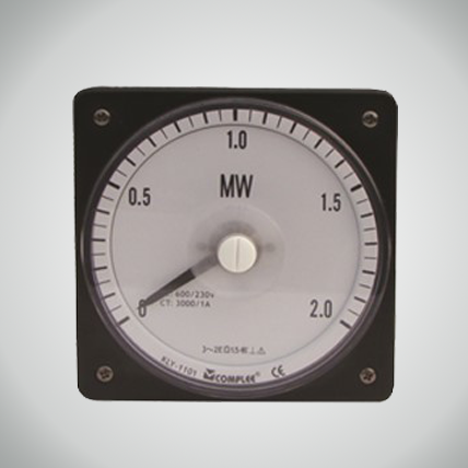 Square-round marine power meter