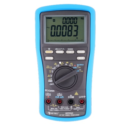 MD 9060 TRMS, 500.000 counts LCD, 100k Hz Voltage Bandwidth Heavy Duty